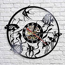 QIANGTOU Goldfish Wall Art Wall Clock Minimal Home