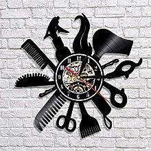 QIANGTOU Hairdresser Tools Design Wall Clock