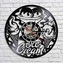 QIANGTOU Ice Cream Shop Business Sign Wall Clock
