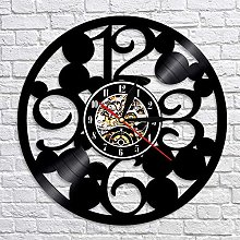 QIANGTOU Large Numbers Wall Clock Contemporary