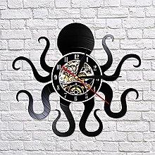 QIANGTOU Retro Octopus Mollusk Vinyl Record Wall