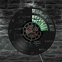 QIANGTOU Science Decor Math Equation Wall Clock