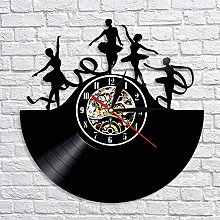 QIANGTOU Spin Dancing Wall Art Wall Clock Ribbon