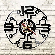 QIANGTOU Vintage Vinyl Record Wall Clock With Big