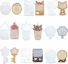QIANGU Silicone Mold, 9 Styles Resin Shaker Molds
