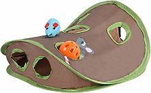 Qians Pet Cat Play Tunnel Toys Bell TentMice