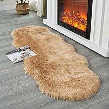 QIAO Faux Fur Rug Soft Fluffy Rug Shaggy Rugs Faux
