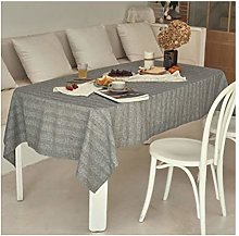 Qiao jin Tablecloths Tablecloth Dark Gray Cotton
