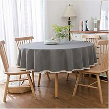 Qiao jin Tablecloths Tablecloth Home Round Dark
