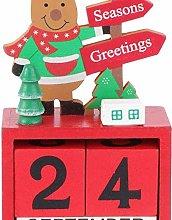 qiaohuan shop Christmas Countdown Calendar Wooden