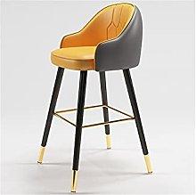QIAOLI Bar Ttool Bar Stool Modern Backrest Chair