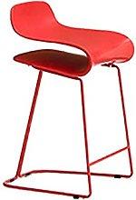 QIAOLI Bar Ttool Bar Stool Nordic High Chairs High