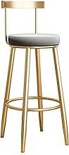 QIAOLI Bar Ttool Golden Bar Stool Modern Bar