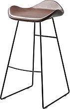 QIAOLI Bar Ttool Nordic Bar Stool Wrought Iron