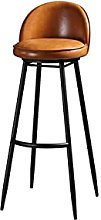 QIAOLI Bar Ttool Wrought Iron Bar Stool Nordic