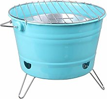 QIAOLI Barbecue Grill Desktop Charcoal Grill,Round