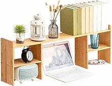 QIAOLI Desktop Bookshelf Bamboo Desktop Bookshelf