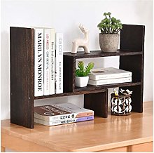 QIAOLI Desktop Bookshelf Expandable Desktop