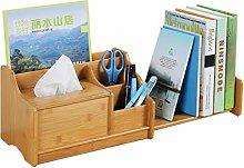 QIAOLI Desktop Bookshelf Expandable Wood Desktop