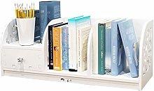 QIAOLI Desktop Bookshelf Freestanding Desktop
