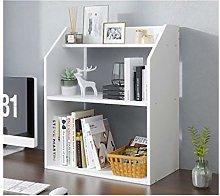 QIAOLI Desktop Bookshelf Multipurpose Desktop
