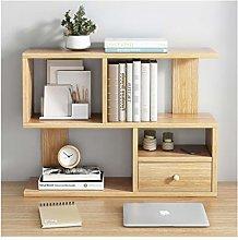 QIAOLI Desktop Bookshelf Office Desktop Bookshelf