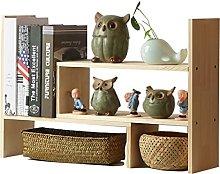 QIAOLI Desktop Bookshelf Stretchable Desktop