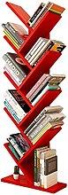 QIAOLI Ladder Shelf Tree Bookshelf Modern Floor