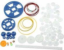 QIDOFAN Motor 80Pcs Plastic Robot Gear Kit Gear