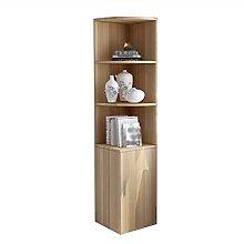 QIFFIY Corner Bookshelf Storage Display Cabinet