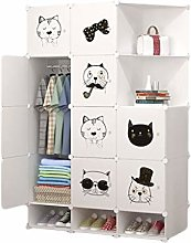 QIFFIY wardrobe Portable Wardrobe Closet Clothes
