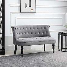 QIHANG-UK 2 Seater Velvet Sofa Couch, Vintage