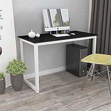 QIHANG-UK Black Computer Desk Bedroom PC Laptop