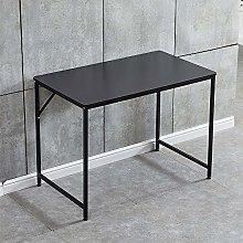QIHANG-UK Black Computer Desk Gaming I Shape Desk