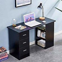 QIHANG-UK Computer Desk PC Laptop Table with 3