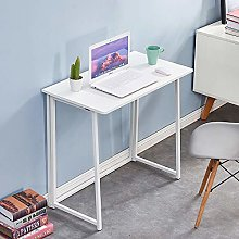 QIHANG-UK Folding Laptop Desk White Small Desk