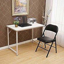 QIHANG-UK I Shape White Computer Desk Small Desk