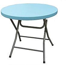 QiHaoHeji Folding Table Folding Dining Table Round