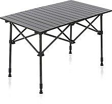 QiHaoHeji Folding Table Outdoor Adjustable Height