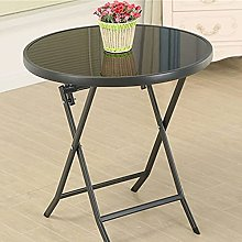 QiHaoHeji Folding Table Round Table Square Table