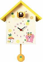 QiHaoHeji Quartz Cuckoo Chime Wall Clock Bird Song