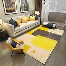 QiJi-Home Living room Area Modern Rug Yellow brown