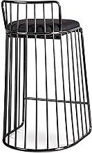 QILIYING Bar Chairs Bar Stools 2 Pcs Black Wire