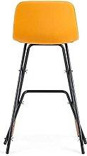 QILIYING Bar Chairs Bar Stools 2 Pcs Metal And