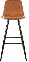 QILIYING Bar Chairs Bar Stools 2 Pcs Modern PU