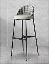 QILIYING Bar Chairs Bar Stools Orange Gray Cushion