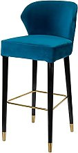 QILIYING Bar Chairs Bar Stools Pub furniture blue