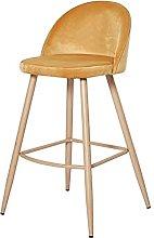 QILIYING Bar Chairs Bar Stools Vel-vet fabric
