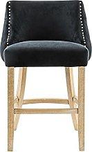 QILIYING Bar Chairs Bar Stools Vel-vet Upholstery