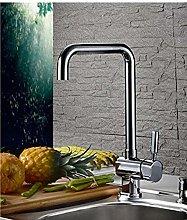 QIMEIM Kitchen Taps Sink Mixer Tap Modern Brass